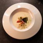 Крем супа от аспержи с лобстер